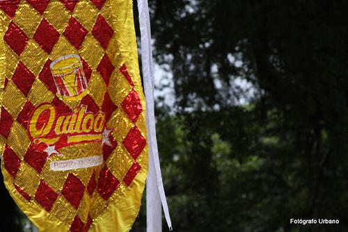 Estandarte do grupo Quiloa - cortejo realizado em Santos, dia 19/07/2009, entre os grupos Quiloa e Maracatu Bloco de Pedra