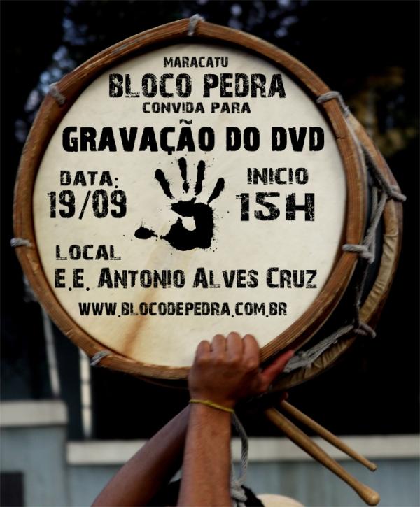 Gravação da apresentação do Bloco de Pedra.